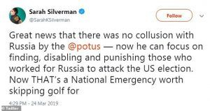 Sarah Silverman No Collusion tweet