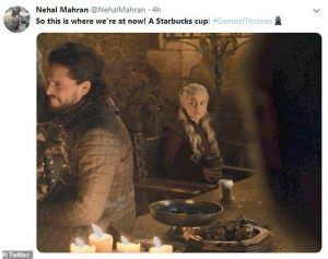 Fans react to coffee cup in Game of Thrones