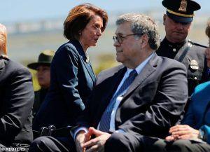 William Barr handcuffs joke to Nancy Pelosi
