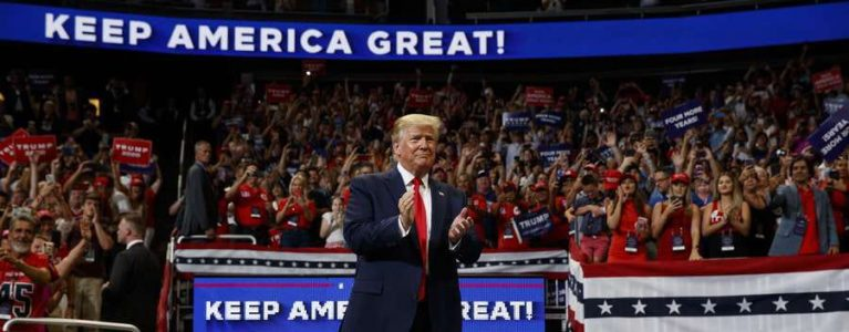 President Donald Trump confirms Re-Election Campaign for 2020 at Orlando Rally